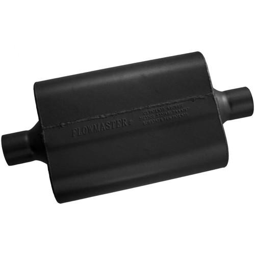 942440 Flowmaster 40 Delta Flow Muffler - 2.25 Center In / 2.25 Center Out - Aggressive Sound