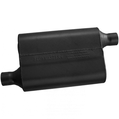 942043 Flowmaster 40 Delta Flow Muffler - 2.00 Offset In / 2.00 Offset Out - Aggressive Sound