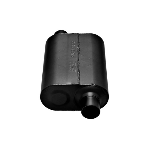 852548 Flowmaster Super 40 Muffler 409S - 2.50 Offset In / 2.50 Offset Out - Aggressive Sound