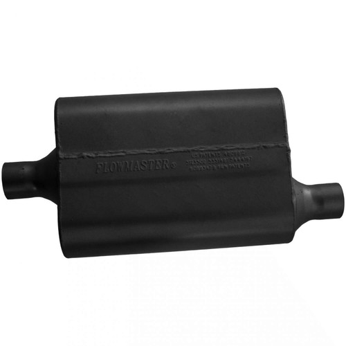 942042 Flowmaster 40 Delta Flow Muffler - 2.00 Center In / 2.00 Offset Out - Aggressive Sound