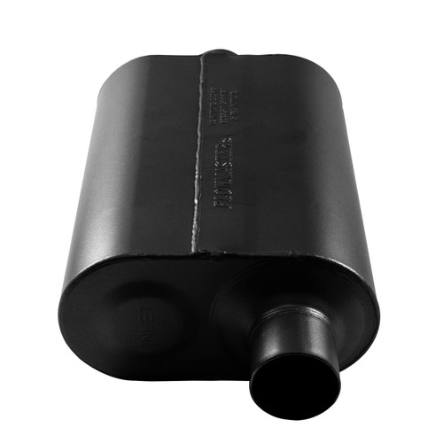 852546 Flowmaster Super 40® Muffler 409S - 2.50 Offset In / 2.50 Center Out - Aggressive Sound