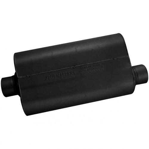 853057 Flowmaster Super 50 Muffler 409S - 3.00 Center In / 3.00 Offset Out - Mild Sound