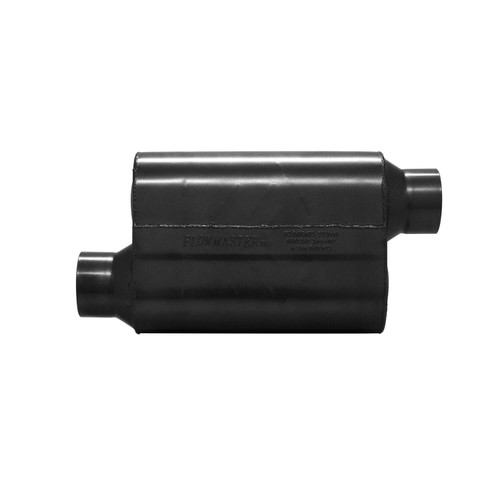 853548 Flowmaster Super 40 Muffler 409S - 3.50 Offset In / 3.50 Offset Out - Aggressive Sound