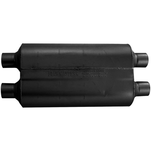 524554 Flowmaster Super 50 Muffler - 2.25 Dual In / 2.25 Dual Out - Mild Sound