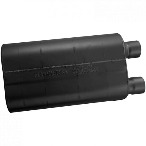 52580 Flowmaster 80 Series Crossflow Muffler - 2.50 Offset In / 2.50 Same Side Out - Aggressive Sound