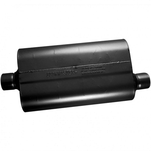52557 Flowmaster Super 50 Muffler - 2.50 Center In / 2.50 Offset Out - Mild Sound