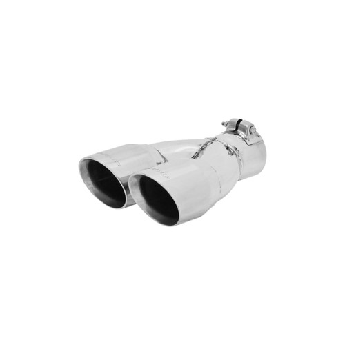 "Flowmaster 15361 Exhaust Tip 3/"" Rolled Angle Polished SS Fits 2.5/"" Pipe clamp on"