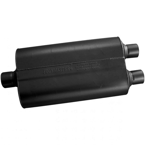525552 Flowmaster Super 50 Muffler - 2.50 Center In / 2.25 Dual Out - Mild Sound