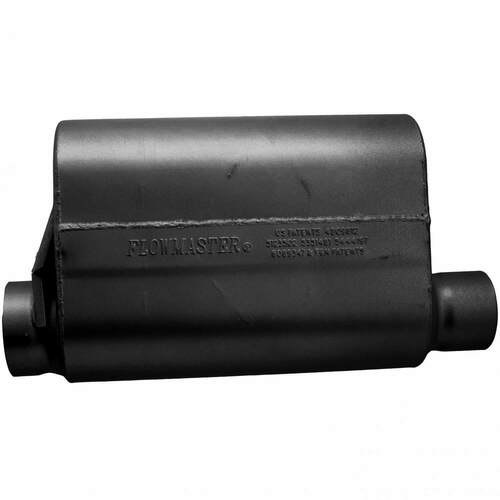 53545-10 Flowmaster Alcohol Race Muffler - 3.50 Offset In / 3.00 Same Side Out - Aggressive Sound
