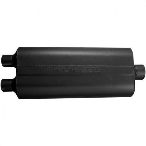 524703 Flowmaster 70 Series Muffler - 2.25 Dual In / 3.00 Center Out - Mild Sound