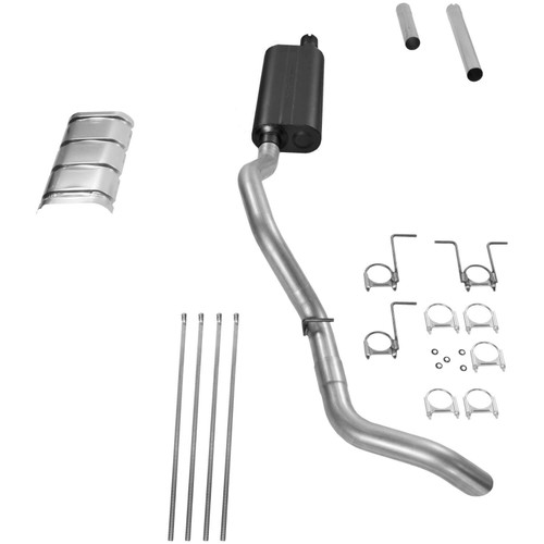 17211 Flowmaster Exhaust System fits Fits 1994 to 1997 Ford F-250 and F-350 truck on a 3/4Ton or 1Ton chassis with a 5.8L or 7.5L engine using a 3 inch catalytic converter, fits 2 and 4 wheel drive models and all wheelbases including Crew Cab.