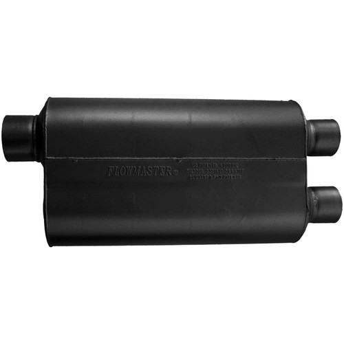 530562 Flowmaster Super 50 Muffler - 3.00 Offset In / 2.50 Dual Out - Mild Sound