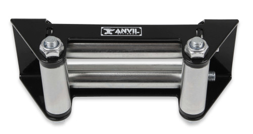 1082AOR Anvil 4-Way Roller Fairlead - Fits Anvil 4,500 lbs. winches - Black & Silver w/ Anvil Logo.