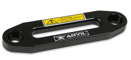 1072AOR Anvil Aluminum Fairlead - Fits Anvil 4,500 lbs. winches - Black w/ Anvil Logo.