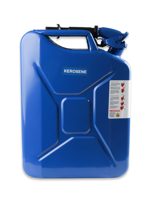 3012AOR Anvil Jerry Can Blue - 5.3 Gallon (20 Liter) – Steel w/ Safety Cap & Spout