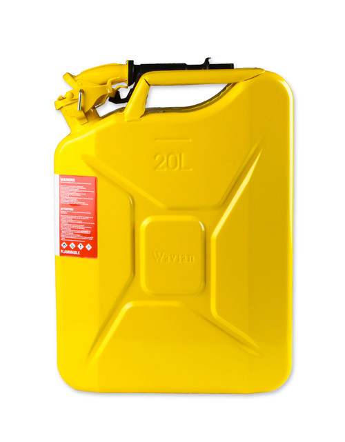 3011AOR Anvil Jerry Can Yellow - 5.3 Gallon (20 Liter) – Steel w/ Safety Cap & Spout