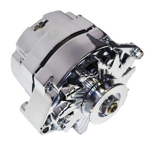 GM Chrome 100 AMP Alternator 1 wire Power Hookup brand new