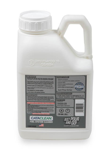 120018CAT Cataclean Fuel & Exhaust System Cleaner 3L Gasoline up to 30 Gallons
