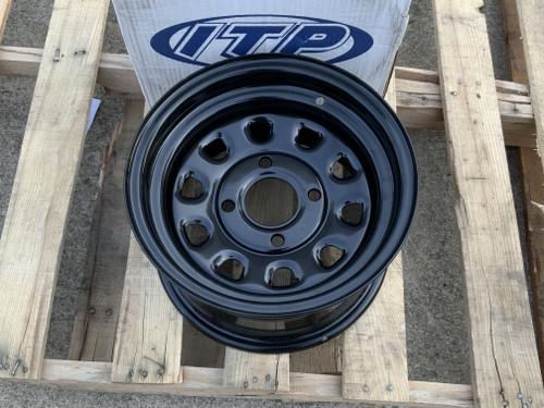 "ATV Rims UTV Wheels 12"" Front Rear Black ITP Delta 12x7 Yamaha Rhino"