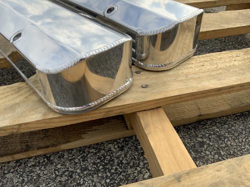 Pontiac 326 350 389 400 426 Fabricated Aluminum Valve Covers Etched Pontiac