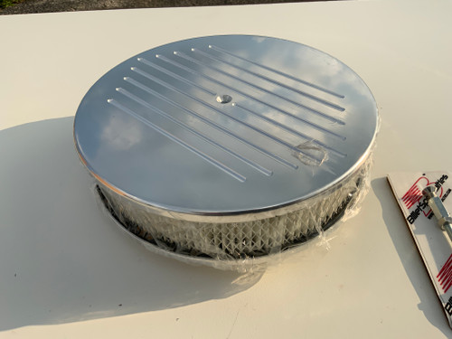"""15820 - Billet Specialties Air Cleaners 14"""" x 3"""" Ball Milled"""