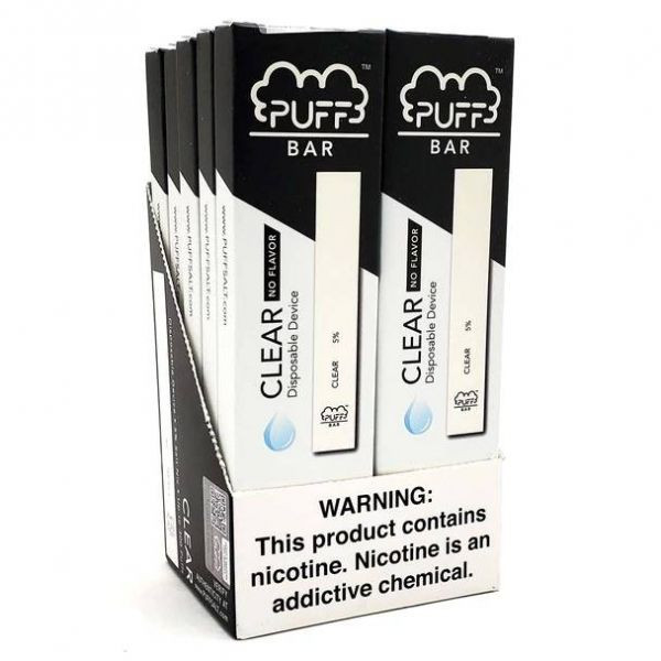 Puff Bar Clear Disposable Device