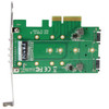 StarTech 3-Port M.2 SSD (NGFF) Adapter Card - 1 x PCIe (NVMe) M.2, 2 x SATA III M.2 - PCIe 3.0
