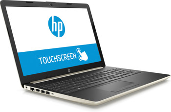 "HP Laptop 15-da0011ds - Intel Pentium, 8GB RAM, 128GB SSD, 15.6"" Touchscreen, Pale Gold"