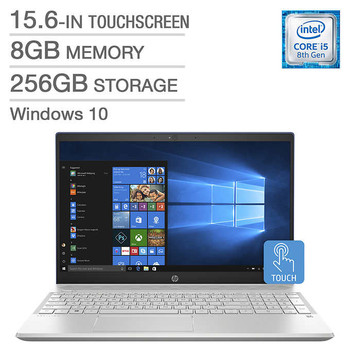 "HP Pavilion 15-CS0003CA - 15.6"" Touch, Intel i5 – 1.60GHz, 8GB RAM, 256GB SSD, Blue"