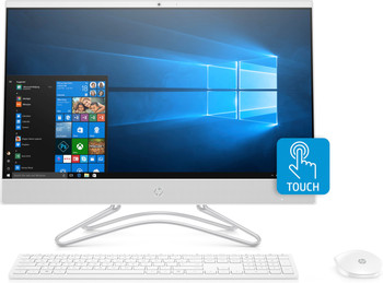 "HP All-in-One 24-f0040 - 23.8"" Touch, AMD A9 - 3.10GHz, 8GB RAM, 1TB HDD, White"
