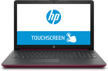 "HP Laptop 15-da0009ds - 15.6"" Touch, Intel Pentium, 8GB RAM, 128GB SSD, Burgundy"