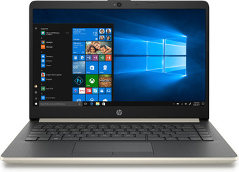 "HP Laptop 14-cf0011ds - 14"" Display, Intel Celeron, 4GB RAM, 64GB SSD, Gold"