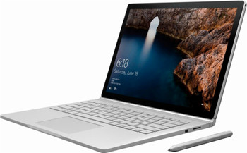 "Microsoft Surface Book – Intel i7 – 2.60GHz, 16GB RAM, 512GB SSD, 13.5"" Touchscreen + Pen, GTX965M 2GB, Windows 10 Pro, Silver"