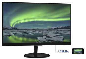 "Philips 257E7QDSB 63.5 cm (25"") Full HD LED Flat Black Computer Monitor"
