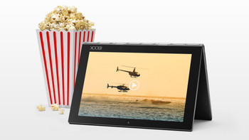 """Lenovo Yoga Book 2-in-1 Notebook - 10.1"""" Touch, Intel Atom, 4GB RAM, 64GB SSD, Android, Black"""