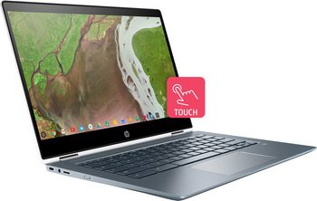 "HP Chromebook x360 14-da0011dx - Intel i3 - 2.20GHz, 8GB RAM, 64GB SSD, 14"" Touchscreen"