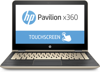 "HP Pavilion x360 Convertible m3-u103dx - Intel i5 - 2.50GHz, 8GB RAM, 128GB SSD, 13.3"" Touchscreen, Gold"