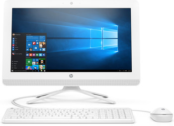 "HP All-in-One 20-c410 - 19.5"" AIO PC, Intel Celeron 2.00GHz, 4GB RAM, 1TB HDD, White"