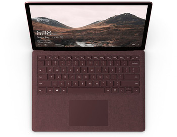 "Microsoft Surface Laptop – Intel i7 – 2.50GHz, 8GB RAM, 256GB SSD, 13.5"" Touchscreen, Windows 10 Pro 64, Burgundy"
