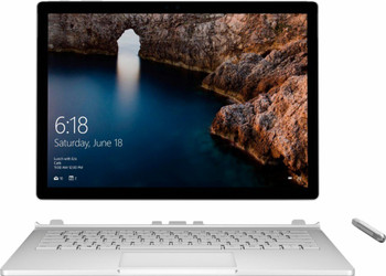 "Microsoft Surface Book – Intel i7 – 2.60GHz, 8GB RAM, 256GB SSD, GTX965M 2GB, 13.5"" Touchscreen + Pen, Windows 10 Pro, Silver"