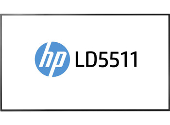 "HP LD5511 (54.6"") Full HD LED Flat Black Computer Monitor"