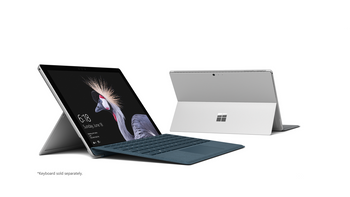 "Microsoft Surface Pro-2017 - Intel M3, 4GB RAM, 128GB SSD, 12.3"" Touchscreen, Windows 10 Pro"