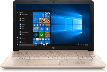 "HP 15-DA0021CY Laptop - Intel Core i5 – 1.60GHz, 8GB RAM, 1TB HD, 16GB Optane, Office 365, 15.6"" Touchscreen, Rose Gold"