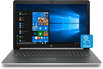 "HP Laptop 17-ca0006ds - AMD Ryzen 3 - 2.00GHz, 8GB RAM, 1TB HDD, 17.3"" Touchscreen, Silver"