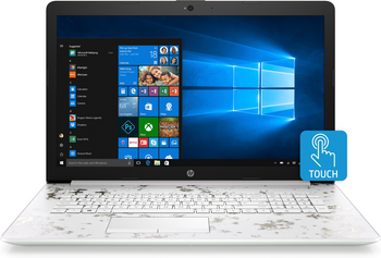 "HP Laptop 17-by0016cy Intel Core i5 - 8250u, 8GB RAM, 16GB Optane, 1TB HDD 17.3"" Touchscreen, White"