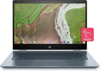 "HP Chromebook x360 14-da0021nr - Intel i3 - 2.20GHz, 8GB RAM, 64GB SSD, 14"" Touchscreen, White"