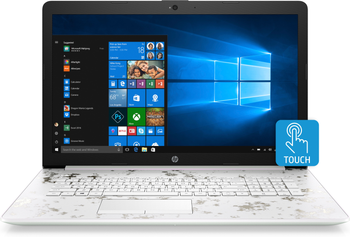 "HP Laptop 17-by0022cy - Intel i5, 8GB RAM, 16GB Optane, 1TB HDD, 17.3"" Touchscreen, White"
