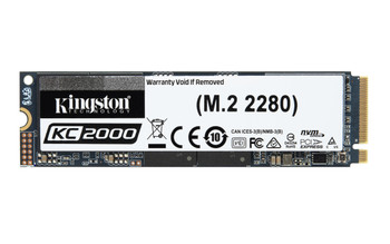 Kingston Technology KC2000 M.2 500 GB PCI Express 3.0 3D TLC NVMe Solid State Drive