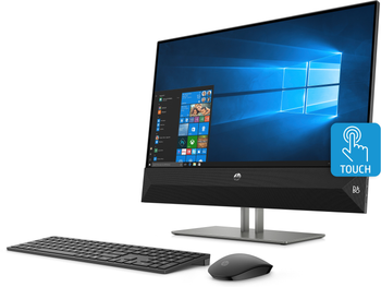 "HP Pavilion 24-XA0020 – 23.8"" Touchscreen, AMD Ryzen 5 – 3.35GHz, 8GB RAM, 2TB HDD, Black"
