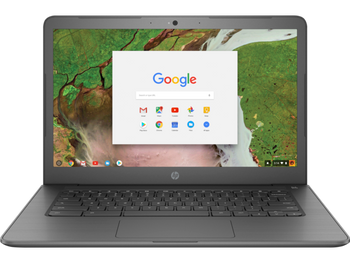 "HP Chromebook 14 G5 | Intel Celeron N3350, 4GB RAM, 16GB SSD, 14"" Display, Gray"